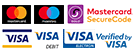Safe payment options including Mastercard and Visa